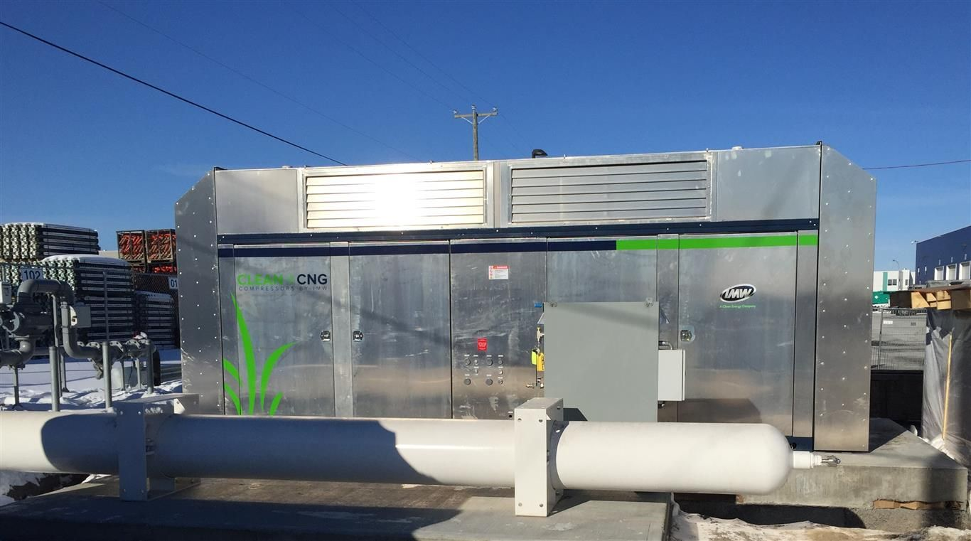 Entreprise Sanitaire F.A. will have its own compressed natural gas (CNG) fill station.
